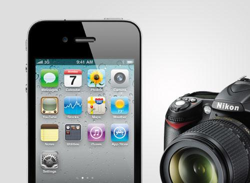 iPhone 4 vs Nikon D90