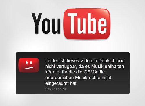Youtube und die GEMA