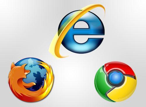 Internet Explorer Firefox und Chrome