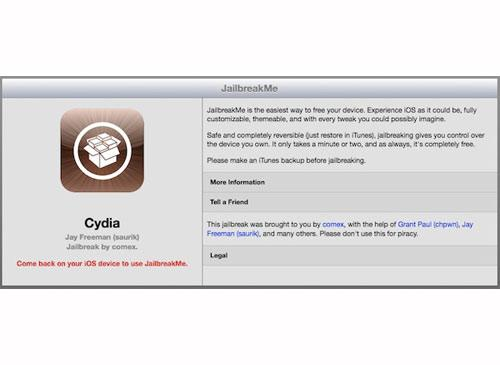 Apple IOS JailbreakMe