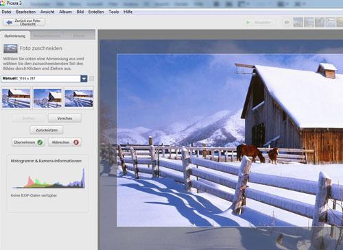 Picasa unbregrenzt Fotos speichern