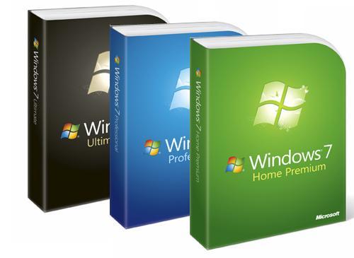 Windows 7 Verpackungen