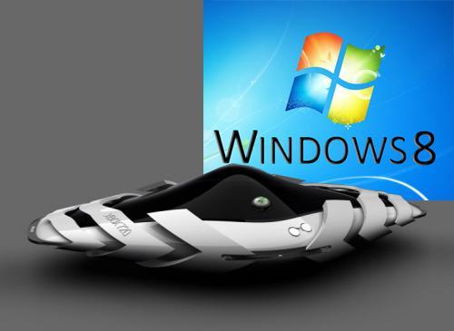 XBox 720 Konzebtbild und Windows 8 Logo