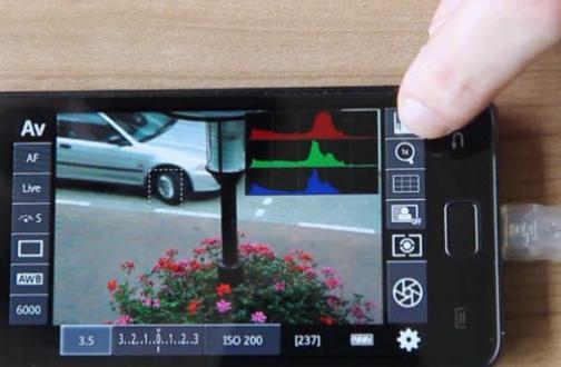 Canon Spiegelreflex-Kamera mit Android Handy