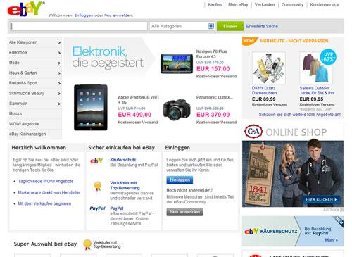 eBay Startseite