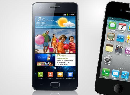 Galaxy S2 und iPhone 4