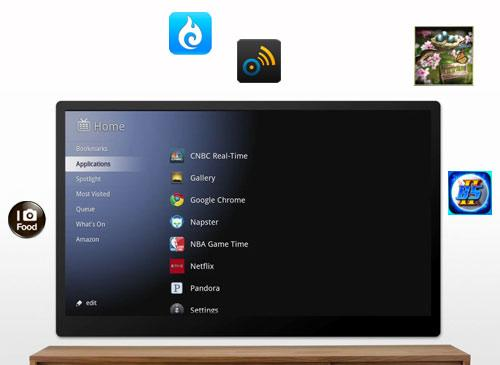 Google TV mit Android apps