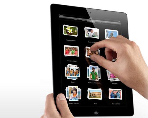 iPad mit Hand