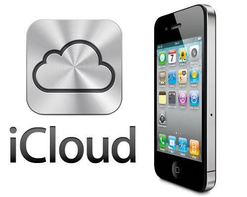iPhone 4G und iCloud logo