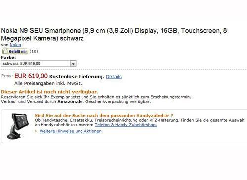 Nokia N9 vom Amazon