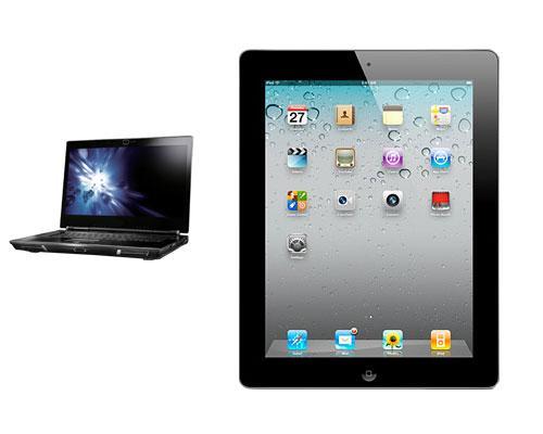Notebook und iPad 2