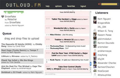 Outloud.FM Screenshot