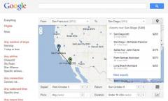 Flugsuchmaschine und Flug-Preisvergleich von Google