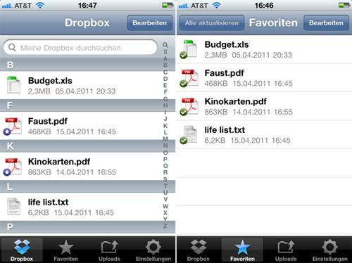 Apple App Dropbox