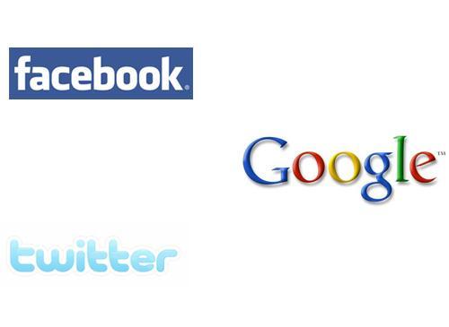 Facebook Twitter VS Google
