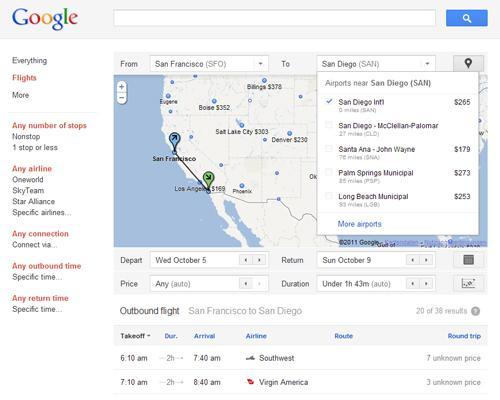 Google Flügesuche