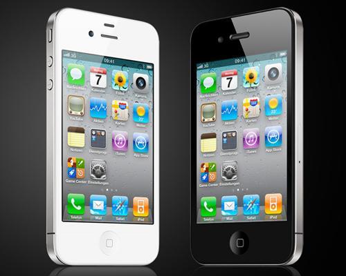 iPhone 4 Schwarz und Weiß