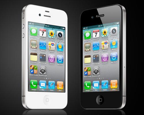 iPhone 4 Schwartz und Weiß