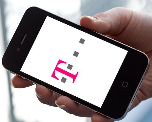 iPhone 4 und Telekom Logo