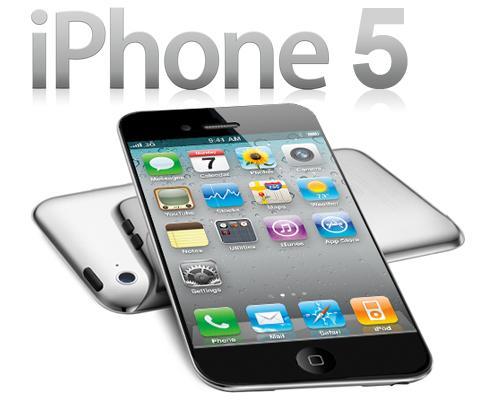 iPhone 5 liegent mit Logo