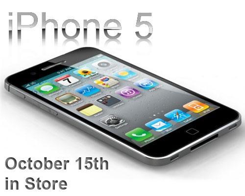 iPhone 5 mit Logo und erscheinungs Datum