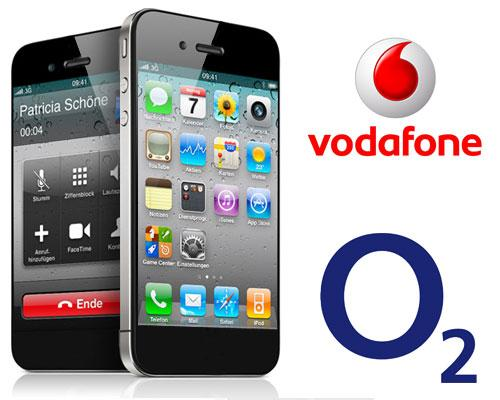 iPhone 5 Vodafone Logo O2 Logo