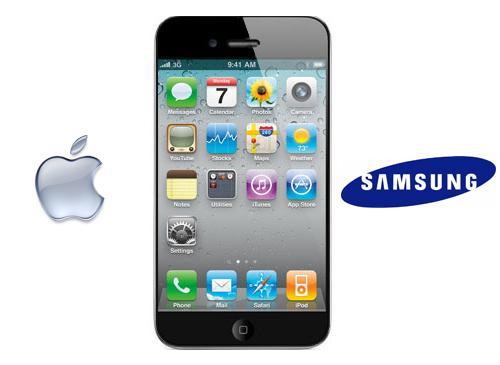 Iphone 5 Apple Logo Samsung Logo