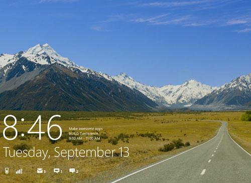 Windows 8 login Screenshot