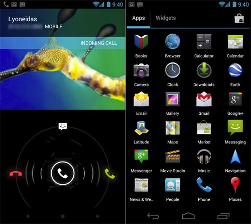 Android 4.0 Screenshots