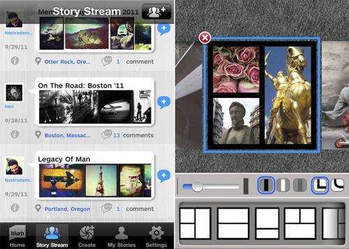 Blurb App Screenshots