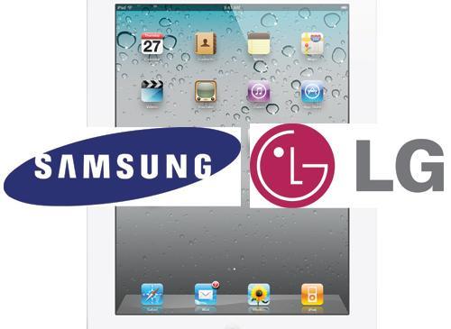 iPad 3 Display LG logo Samsung logo