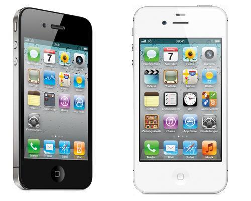 iPhone 4S schwarz Weiß ansichten
