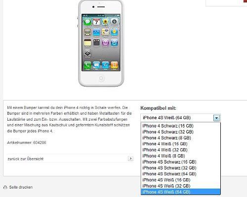 iPhone 4S schwarz Weiß Vodafone