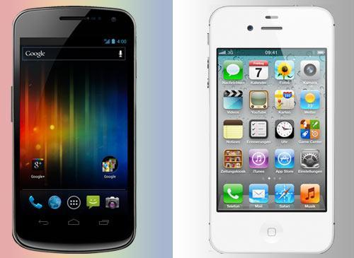 Aple iPhone 4S vs Android Samsung Galaxy Nexus
