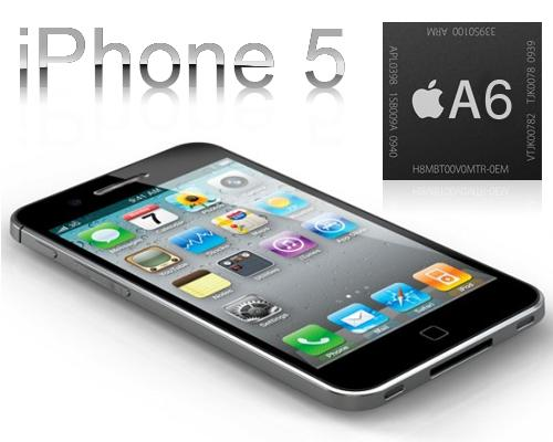 iPhone 5 liegent Logo A6 Chip