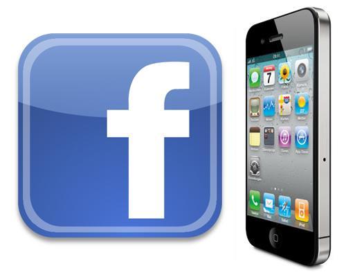 iPhone 5 und Facebook Logo