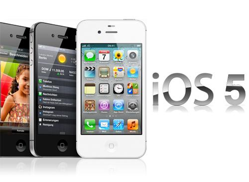 iPhone 4S iOs 5 logo