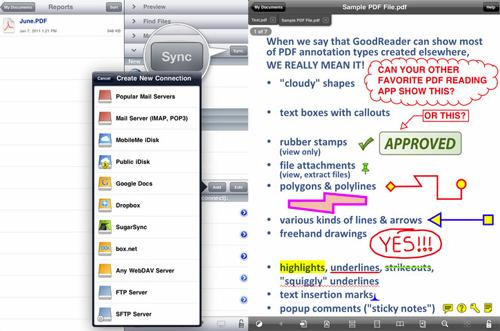 Apple App PDF Reader GoodReader