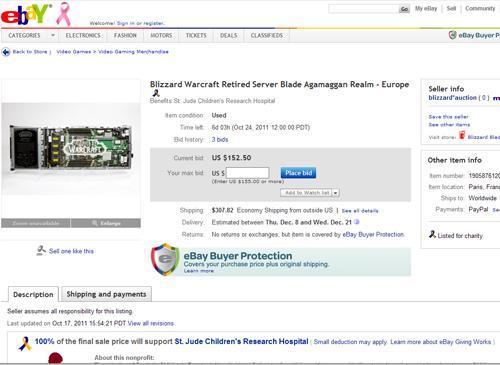 WoW server bei Ebay