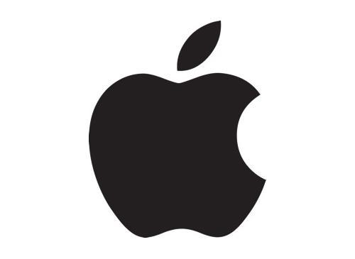 Apple logo schwarz