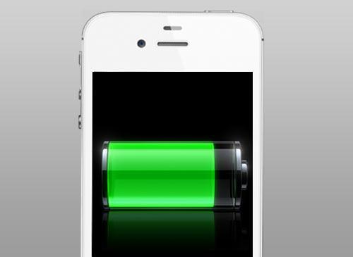 iPhone 4S mit Akkusymbol