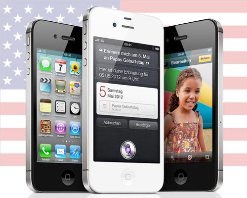 iPhone 4S USA Flagge