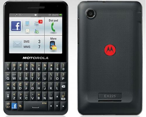 MotoKey Social Facebook handy Motorola