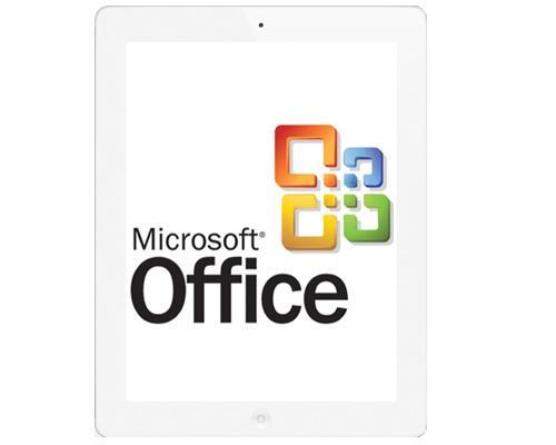 iPAd 2 mit Microsoft Office logo