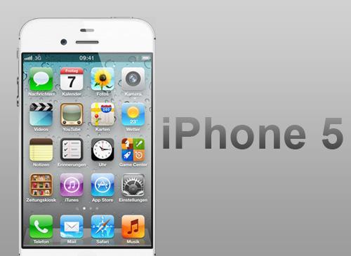 iPhone 5 und logo