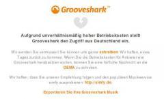 Grooveshark Deutschland: Legaler Musikdienst schließt