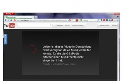 YouTube Sperre umgehen mit ProxTube