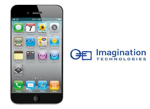 iPhone 5 und Imagination Technologies logo