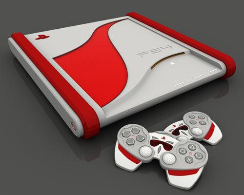 Playstation 4 in rot