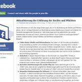 Facebook: Neue Datenschutz-Richtlinien ablehnen